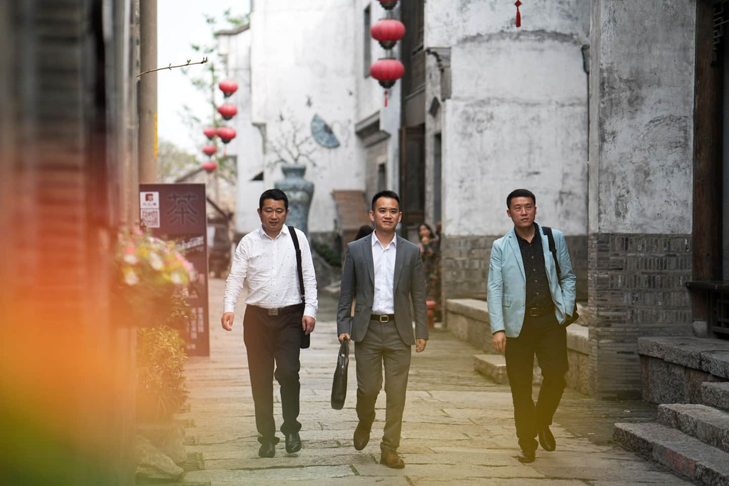 Changing life in Nanjing - Men walking
